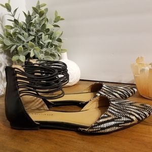 Rampage ankle strap pointed toe flats size 8.5
